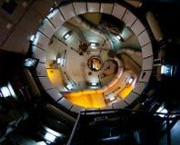 Тренировка и блок для хранения космической станции невесомости идущие Стоковое фото RF