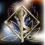 Тренировка йоги иллюстрация штока