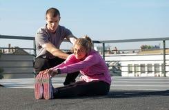 Тренировка на крыше Стоковые Фото