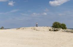 Тренировка на пляже Стоковые Фотографии RF