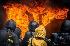 Тренировка пожарного Стоковое Изображение