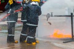 Тренировка пожарного Стоковые Изображения RF