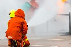 Тренировка пожарного Стоковые Фото