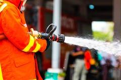 Тренировка пожарного Стоковая Фотография
