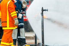 Тренировка пожарного Стоковое фото RF