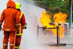 Тренировка пожарного Стоковые Фотографии RF