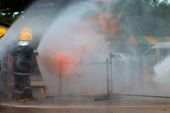 Тренировка пожарного Стоковые Изображения