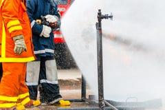 Тренировка пожарного Стоковое Фото