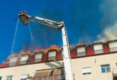 тренировка пожарных пожарного действия Стоковое Изображение RF