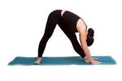 тренировка представляет йогу Стоковые Изображения RF