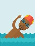 Тренировка пловца в бассейне Стоковое Изображение RF