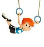Тренировка ребенка шаржа - иллюстрация для детей Стоковое Изображение RF