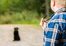 Тренировка свистка Стоковая Фотография