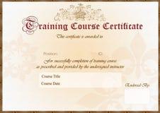тренировка сертификата Стоковая Фотография RF