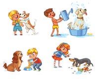Тренировка собаки персонаж из мультфильма смешной бесплатная иллюстрация