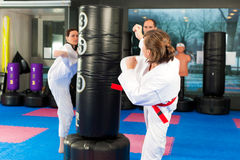 тренировка спорта гимнастики искусств военная Стоковая Фотография