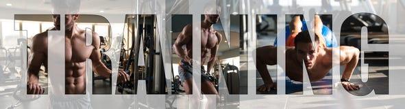 Тренировка спортсмена знака мотивировки в спортзале стоковые фотографии rf