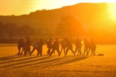 Тренировка футбола, Данидин NZ Стоковые Фотографии RF