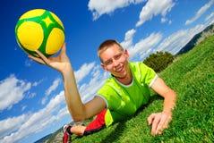 тренировка футбола Стоковые Фотографии RF