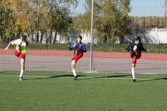 тренировка футбольного матча Стоковая Фотография RF