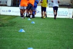 Тренировка футбола футбола Стоковые Изображения