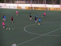 Тренировка футбола (II) Стоковое Изображение