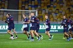 Тренировка футбольной команды Англии национальная Стоковые Изображения RF