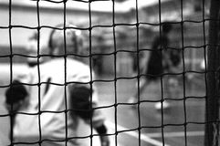 тренировка хранителя цели floorball Стоковые Изображения RF