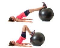Тренировка шарика стабильности стоковое фото