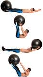 Тренировка шарика стабильности стоковое изображение rf
