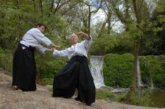 тренировка aikido Стоковые Изображения RF