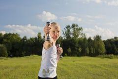 Тренировки девушки Стоковое Изображение