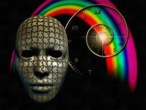 Тренировки разума Озадаченная маска Стоковая Фотография
