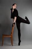 тренировки стула балерины ближайше выполняют Стоковые Фотографии RF