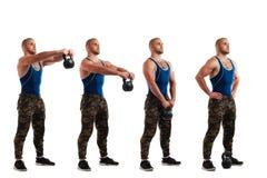 Тренировки с весом стоковая фотография rf