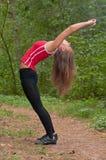 Тренировки утра в парке Стоковое Изображение