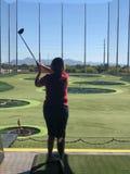 Тренировочная площадка гольфа стоковое фото rf
