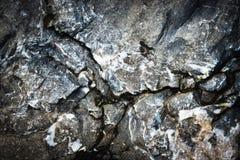 Трескает камень темноты известняка fisure Стоковое Изображение RF