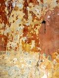 трескает стену текстуры старой краски затрапезную Стоковые Изображения