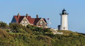 Треска накидки Массачусетс маяка Nobska стоковое изображение rf