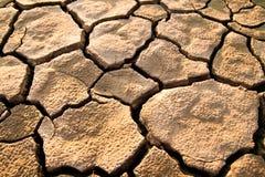 треснутая безжизненная почва Стоковая Фотография