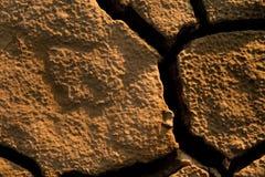 треснутая безжизненная почва Стоковые Фото