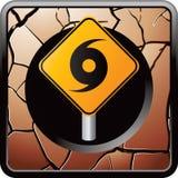 треснутая бронзой сеть знака иконы урагана предупреждающая бесплатная иллюстрация