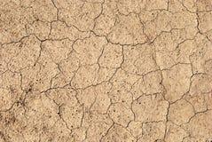 Треснутая глина от жары Стоковые Изображения