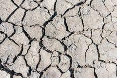Треснутая засухой текстура почвы Сухая текстура предпосылки грязи глобальное потепление Стоковые Фотографии RF