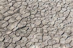 Треснутая засухой текстура почвы Сухая текстура предпосылки грязи глобальное потепление Стоковые Изображения