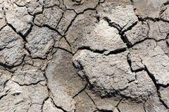Треснутая засухой текстура почвы Сухая текстура предпосылки грязи глобальное потепление Стоковые Изображения RF