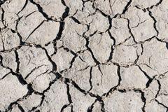 Треснутая засухой текстура почвы Сухая текстура предпосылки грязи глобальное потепление Стоковое Изображение RF