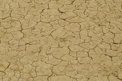 Треснутая земля от жары Стоковые Фото