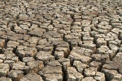 Треснутая земля глины Стоковая Фотография RF